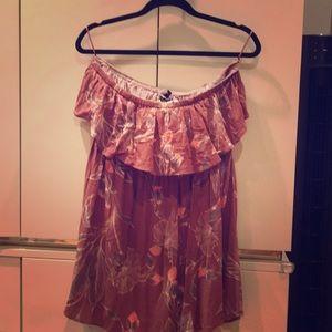 Strapless ruffle dress